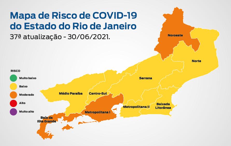 Imagem do mapa de risco da Covid-19