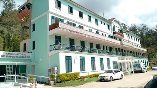 Hospital Clínico de Corrêas, em Petrópolis. Foto: Reprodução Internet