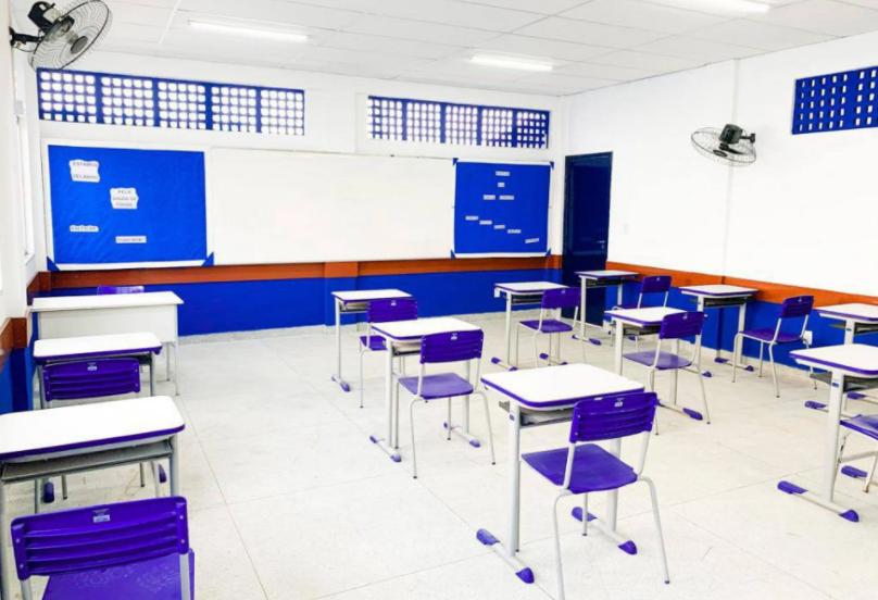 Sala de aula em nova escola de São João de Meriti