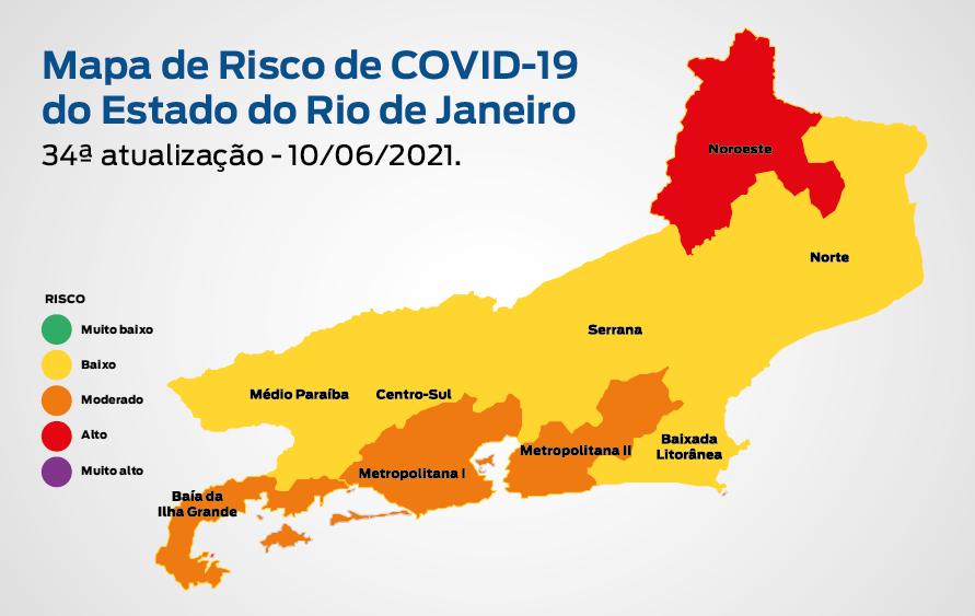 imagem do Mapa de Risco para a Covid-19