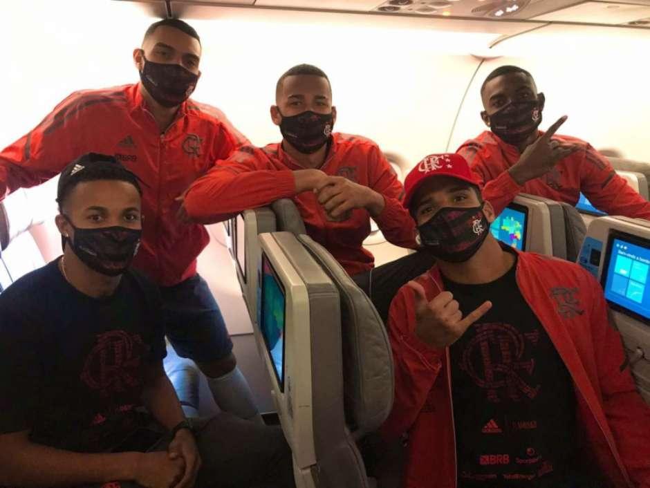 Delegação do Flamengo embarca para Natal, no Rio Grande do Norte, para pegar o ABC, pela Copa do Brasil
