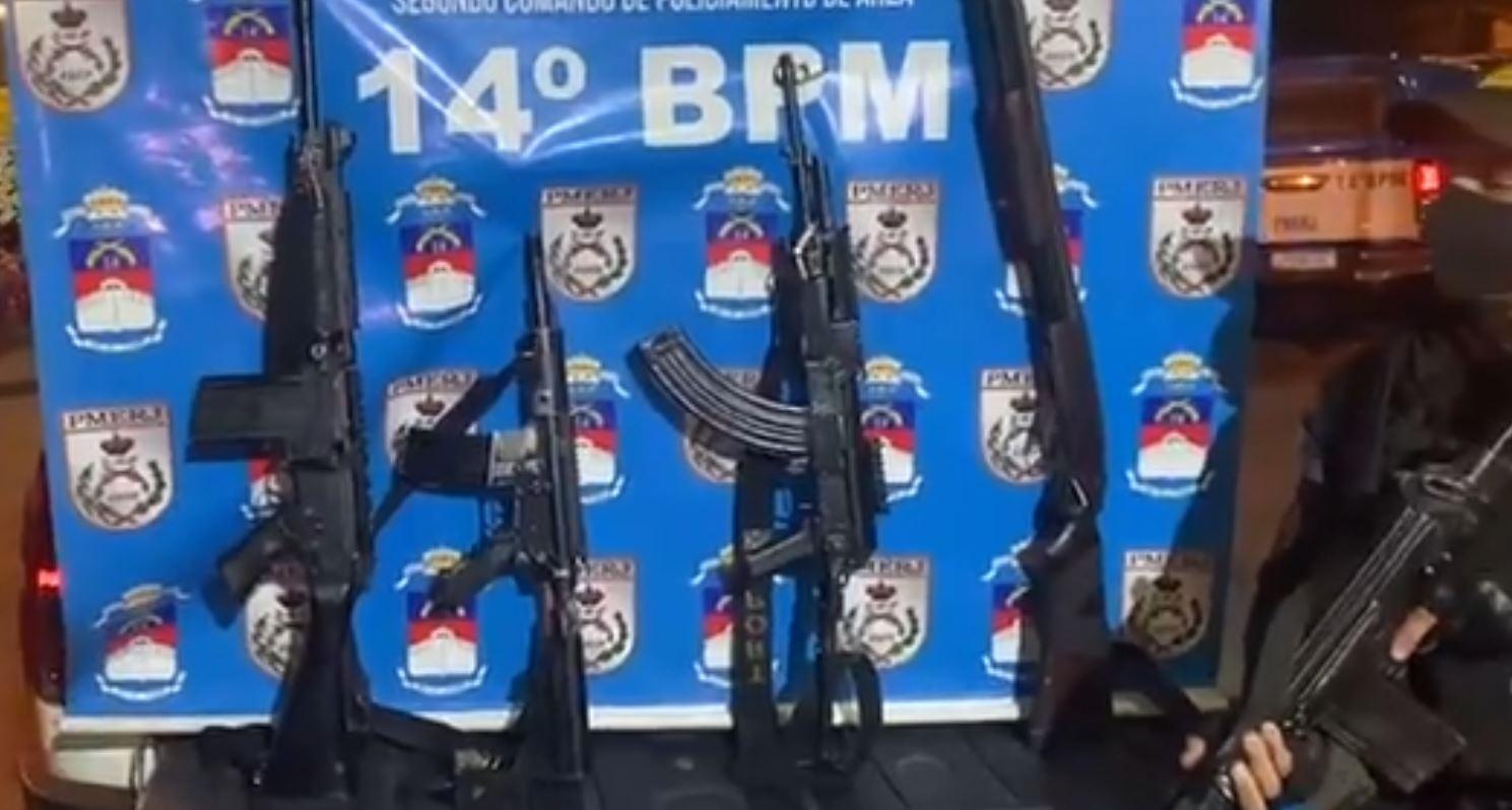 Polícia Militar apreende 115 fuzis nos três primeiros meses do ano