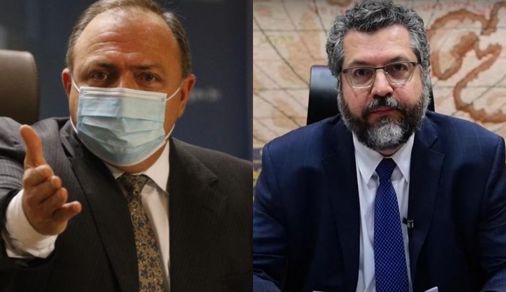 Pazuello e Ernesto Araújo