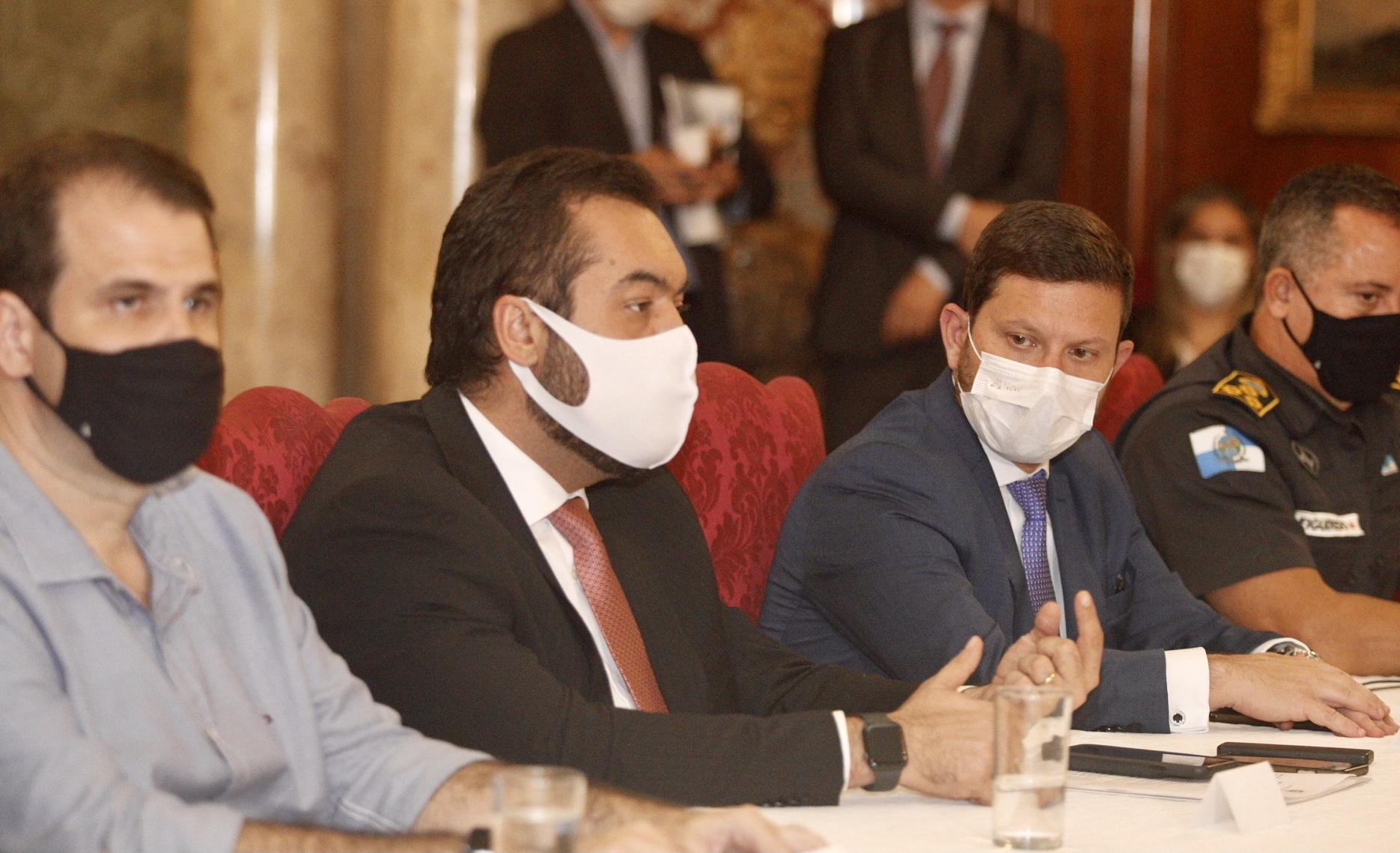 Imagem de uma reunião no Palácio Laranjeiras