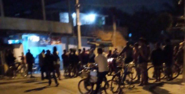 Moradores assustados com os tiros na região