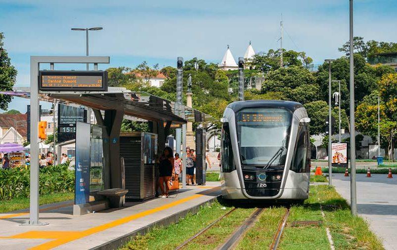 Estação do VLT no Centro do Rio