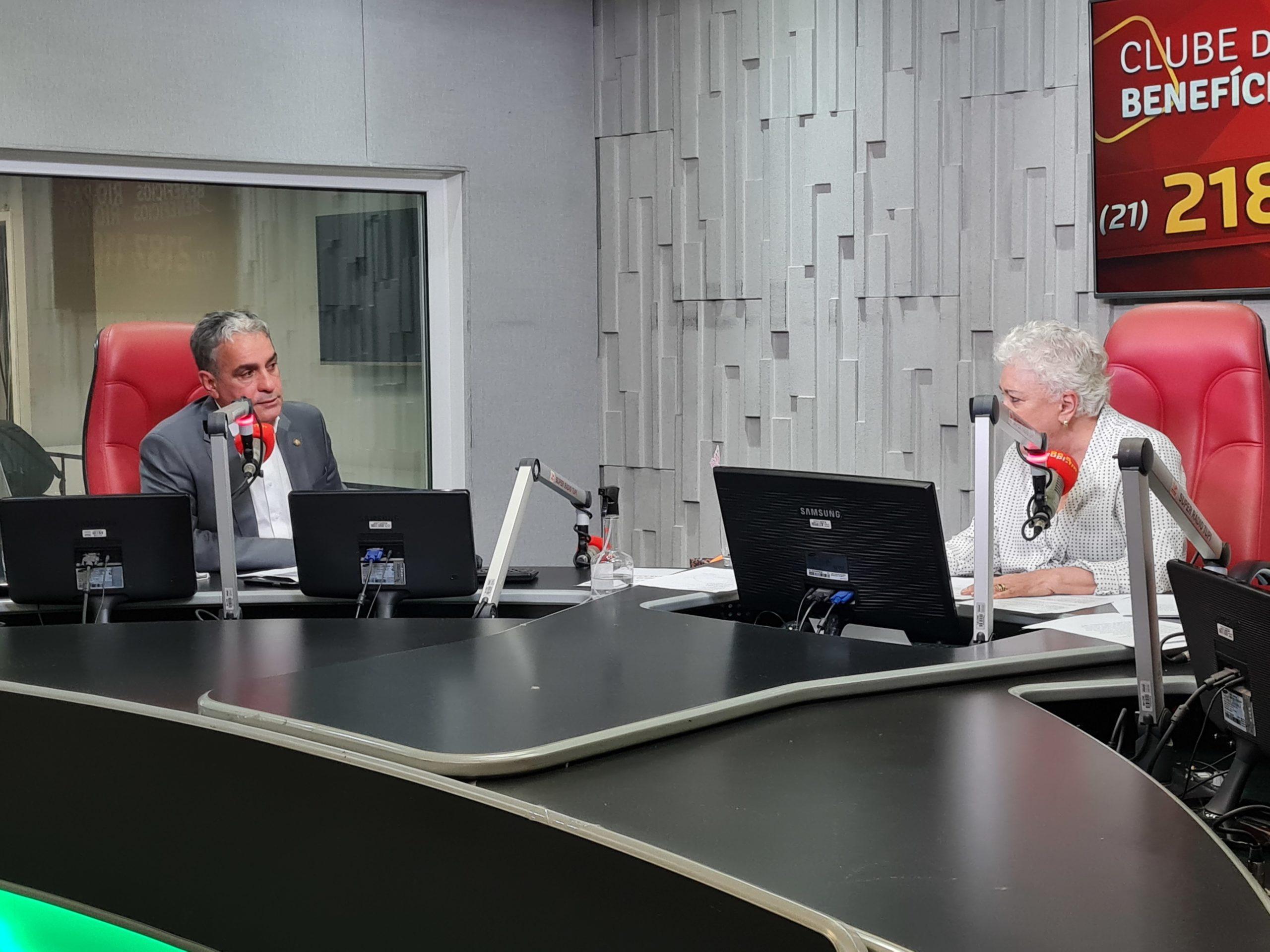 André Ceciliano, presidente da Alerj e Cidinha Campos