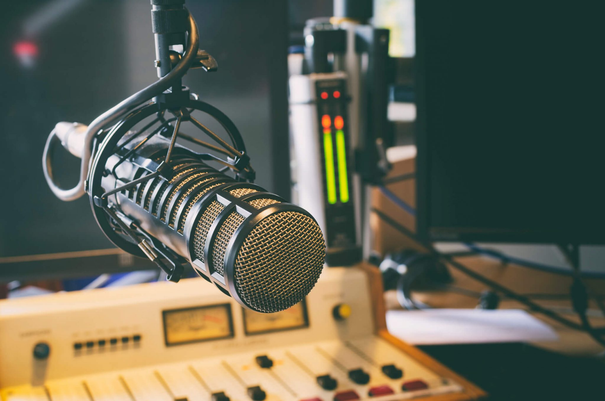 Microfone de rádio