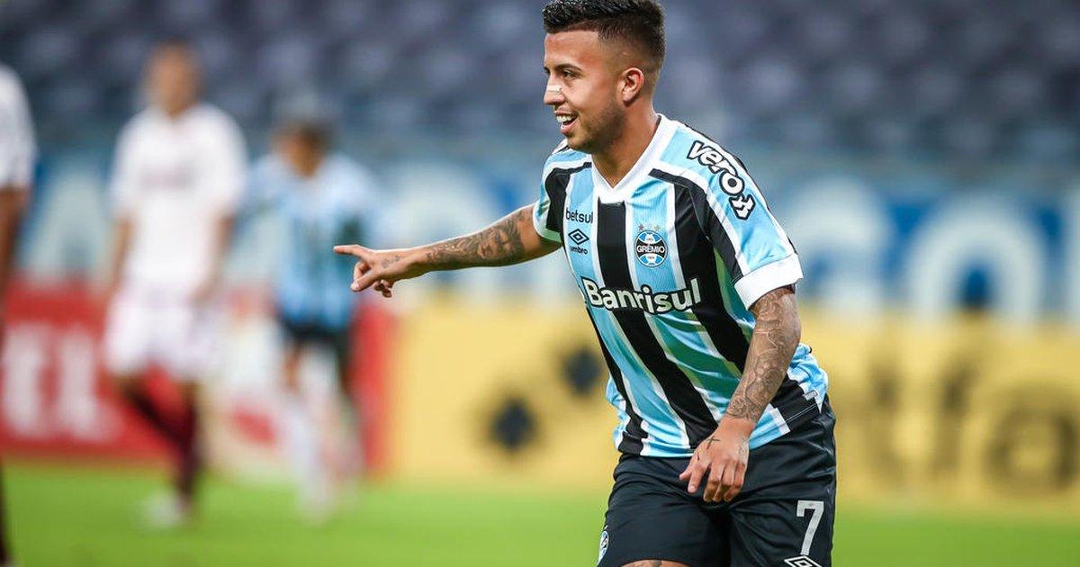 Matheus Henrique em ação pelo Grêmio