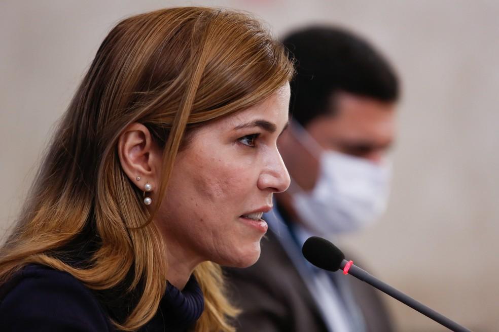 Secretária Mayra Pinheiro, do Ministério da Saúde