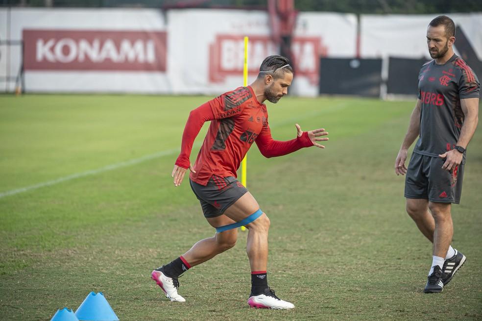 Diego Ribas já treina com bola no Flamengo e deve voltar contra o Bahia pelo Campeonato Brasileiro