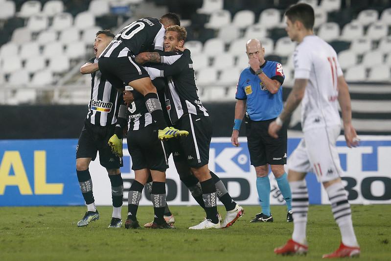 Comemoração dos jogadores do Botafogo