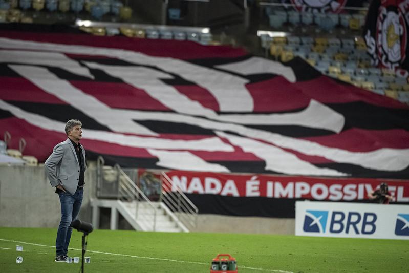 Renato Gaúcho sofreu a sua primeira derrota no comando do Flamengo