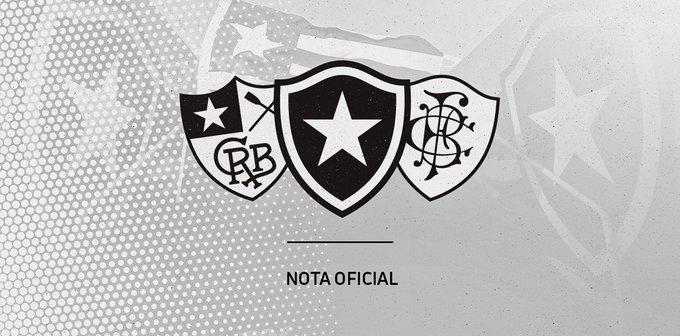 Banner da nota oficial do clube