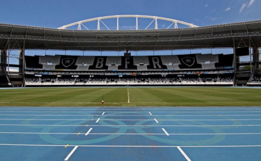 Foto panorâmica do estádio Nilton santos