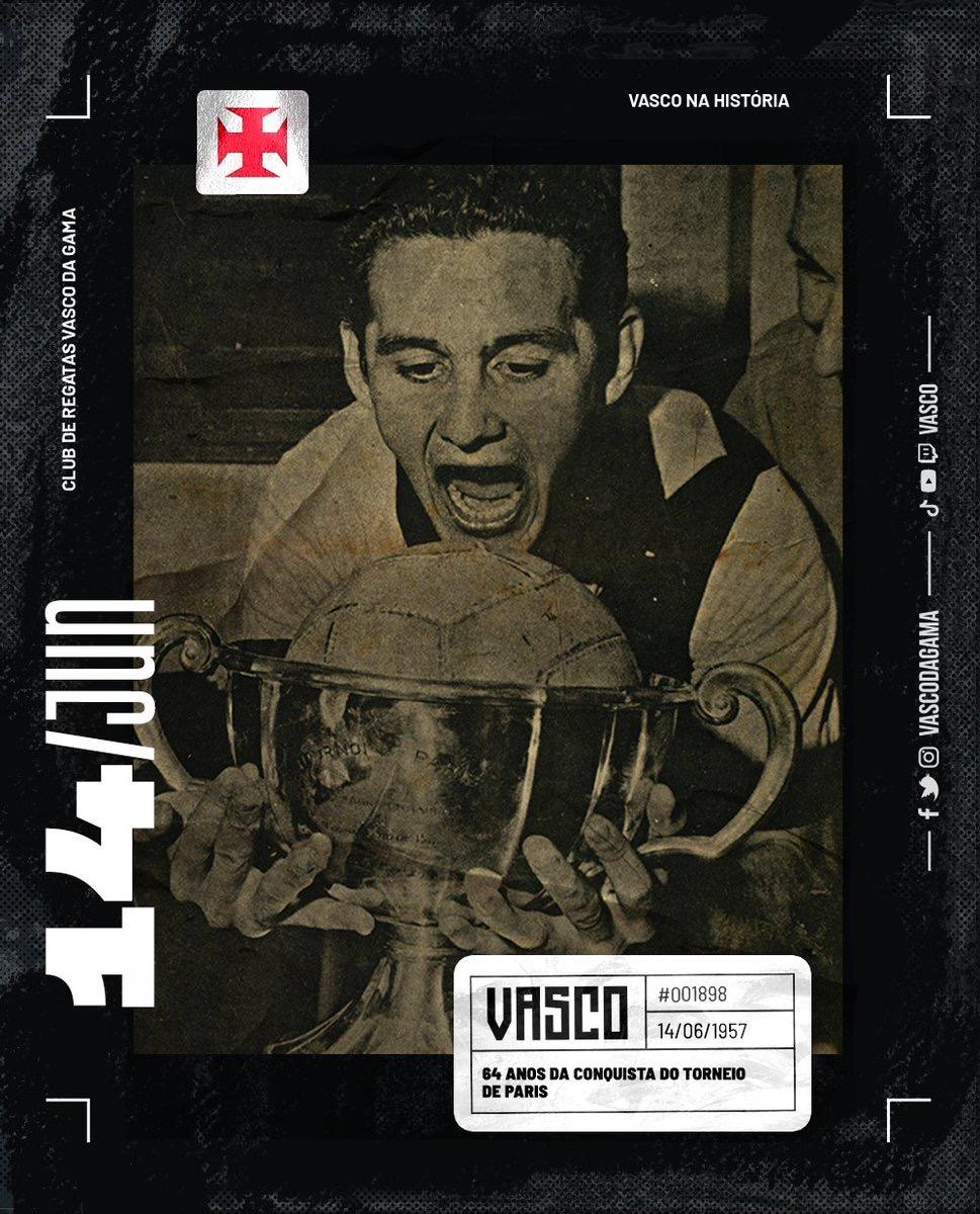 Vasco conquista o Torneio de Paris em 1957
