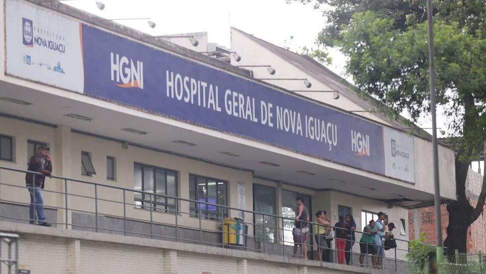 Fachada do Hospital Geral de Nova Iguaçu