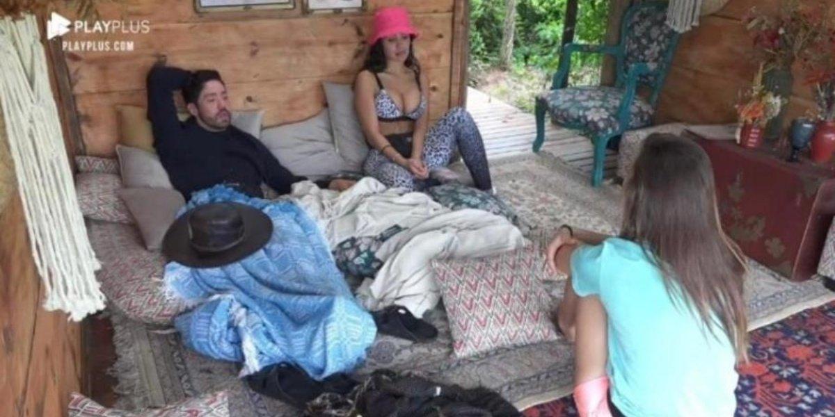 """Rico, Aline Mineiro e Dayane Mello na casa da árvore em """"A Fazenda 13"""""""