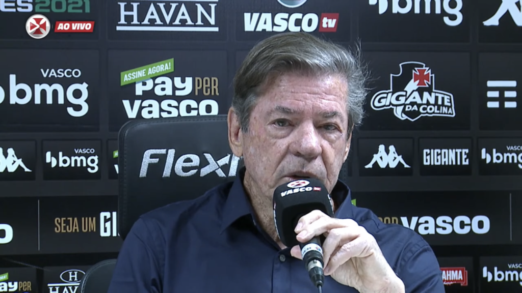 Jorge Salgado, presidente do Vasco durante entrevista
