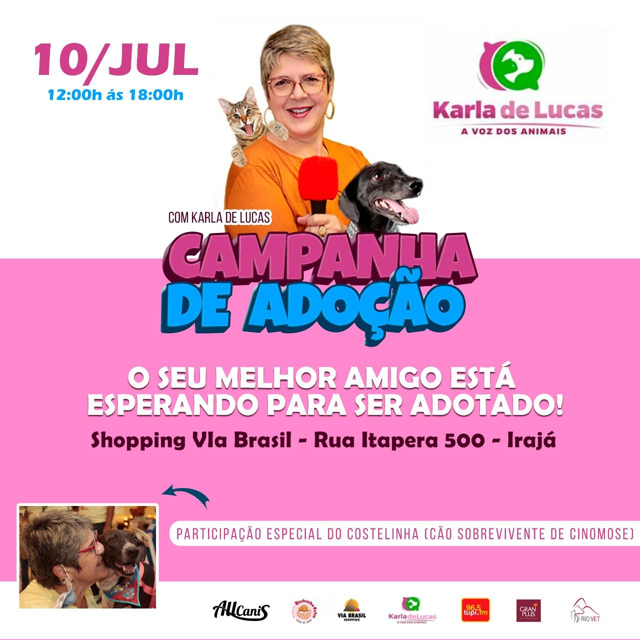 Karla de Lucas promove 'Campanha de adoção' de cães e gatos na Zona Norte do Rio (Divulgação)