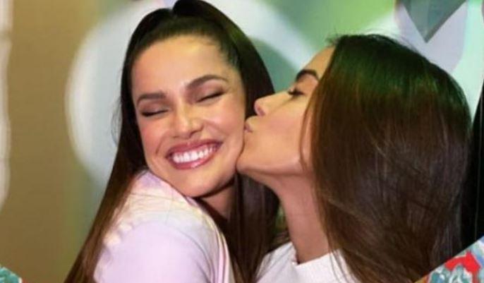 Anitta e Juliette se encontram pela primeira vez (Reprodução: Redes Sociais)