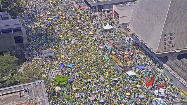 Ato a favor do governo federal em São Paulo