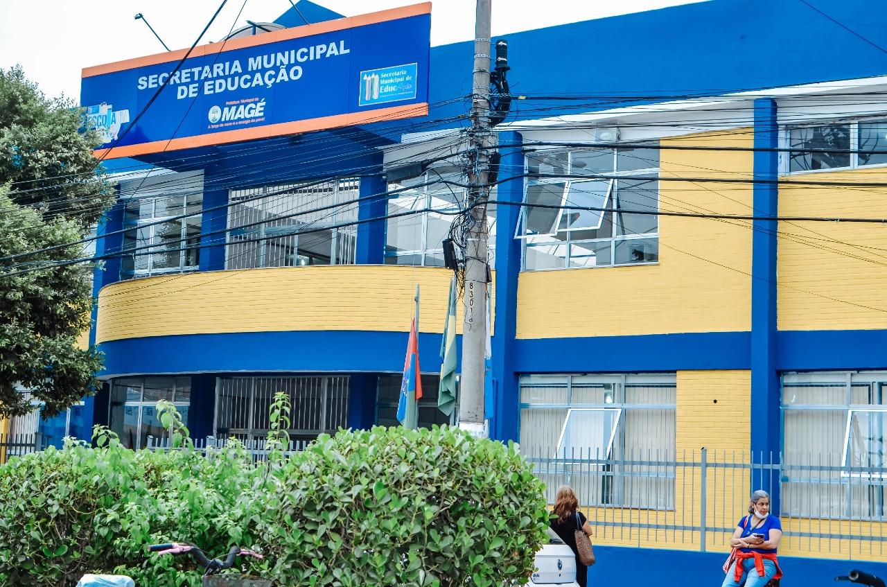 Imagem da fachada da Secretaria Municipal de Educação