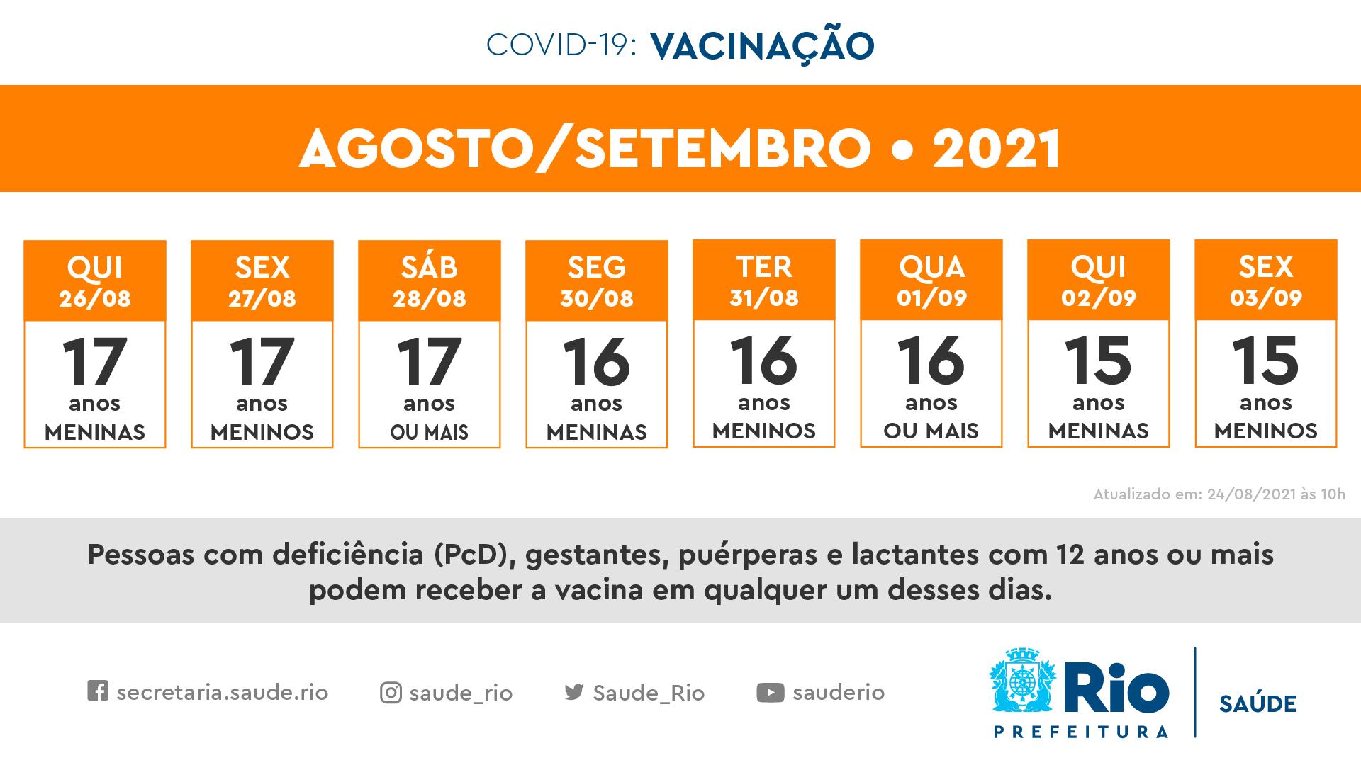 Calendário de vacinação para adolescentes