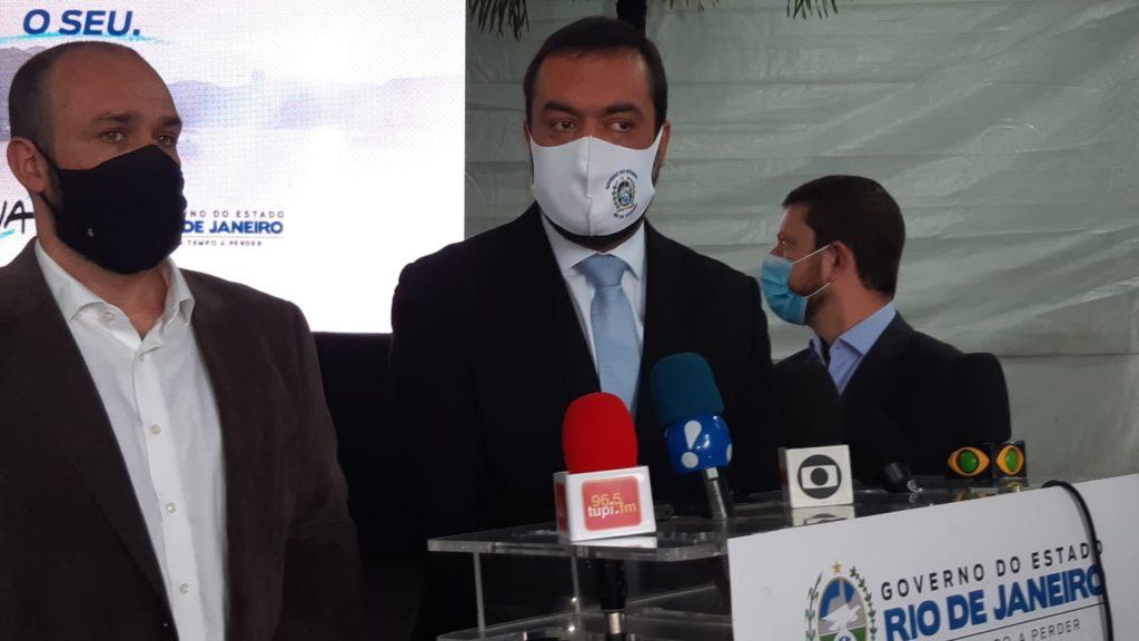 Imagens do Governador Cláudio Castro e o CEO da Iguá