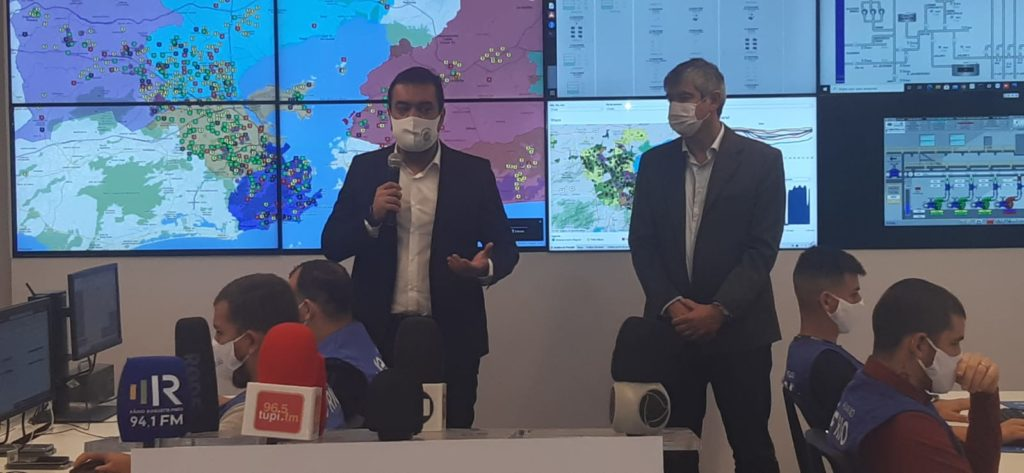 Imagem do Governador Cláudio Castro e O CEO da Águas do Rio