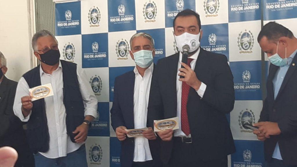 Imagem do governador Cláudio Castro em evento