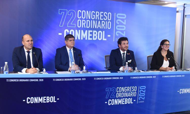 Dirigentes da Conmebol reunidos