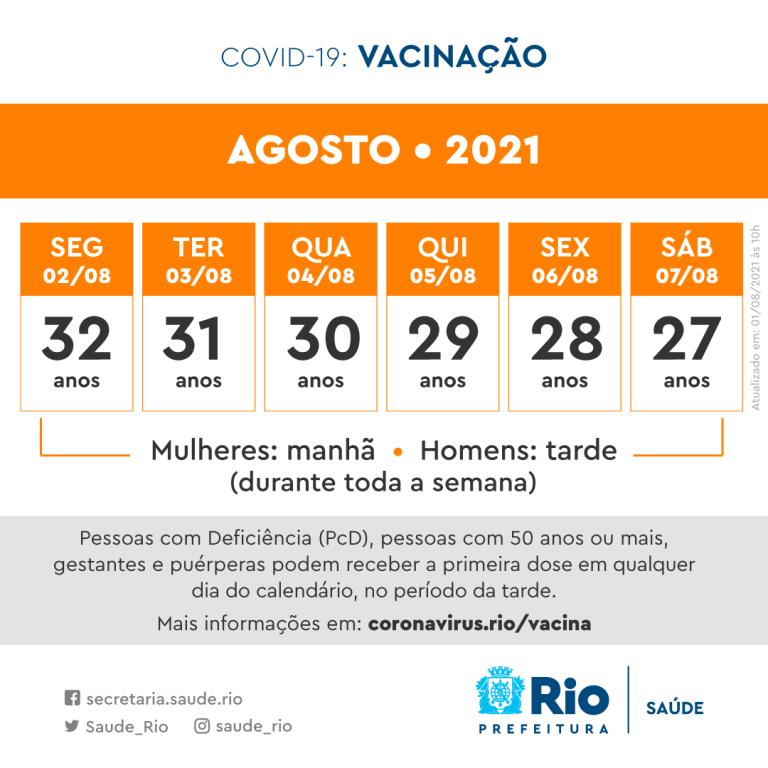 calendário vacinação rio