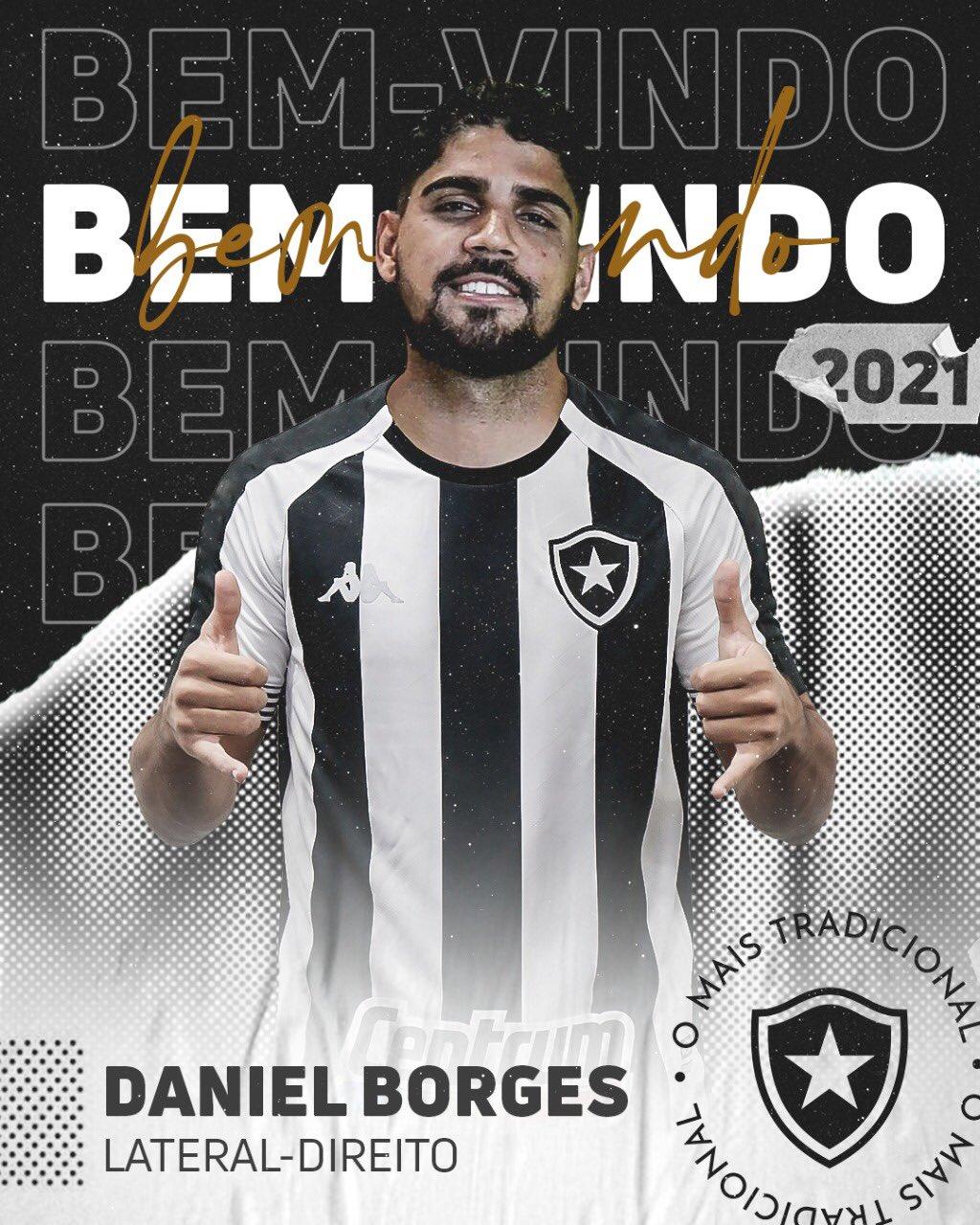 Arte de apresentação do lateral Daniel Borges
