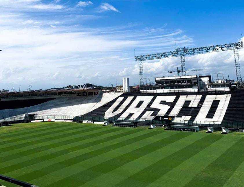Vista aérea do estádio de São Januário