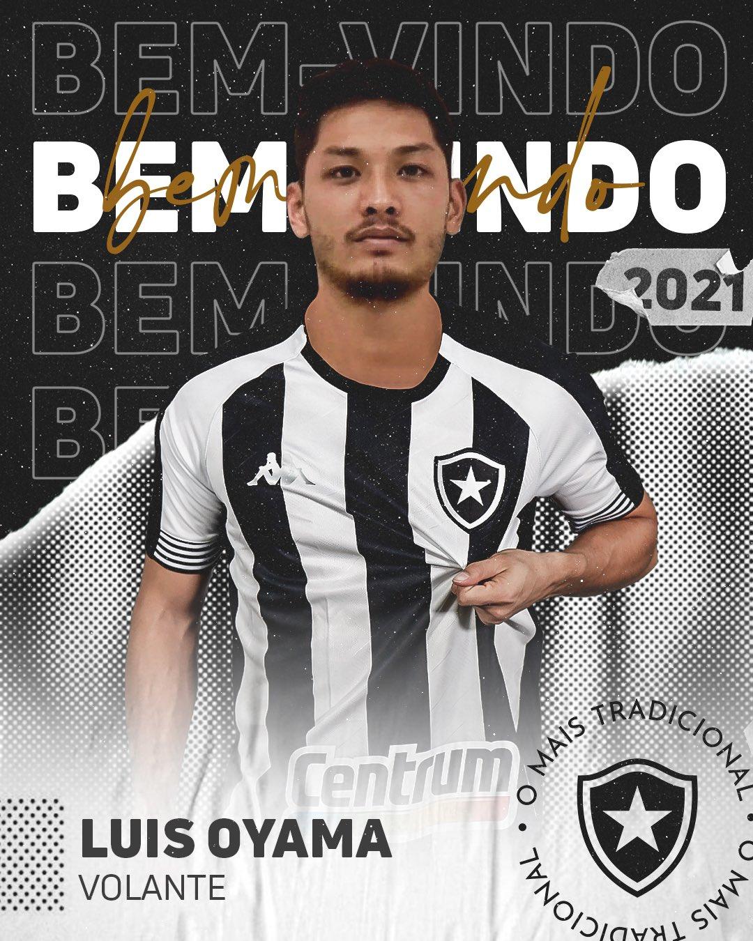 Arte apresentação Oyama camisa do Botafogo