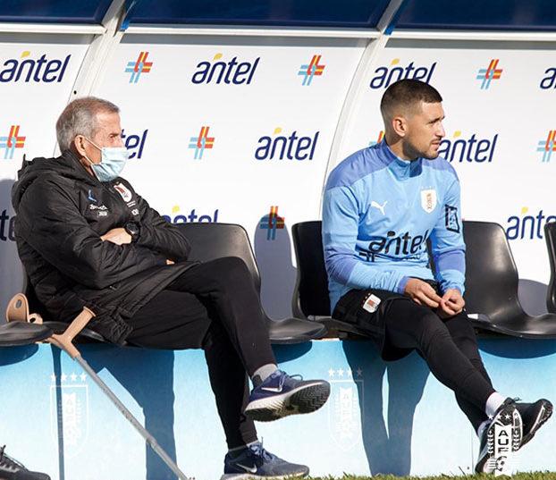 Óscar Tabárez e Arrascaeta