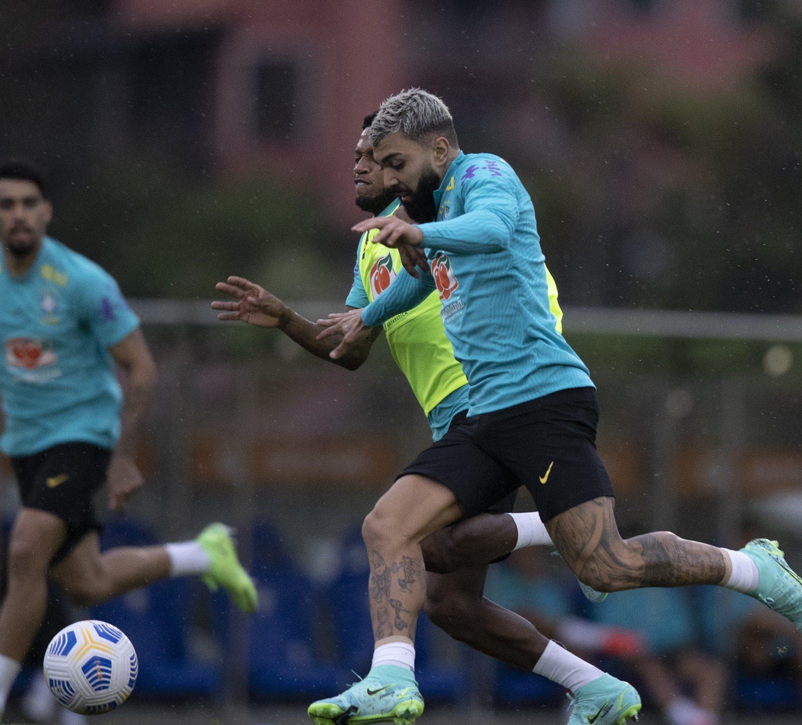 Gabigol em atividade pela Seleção Brasileira