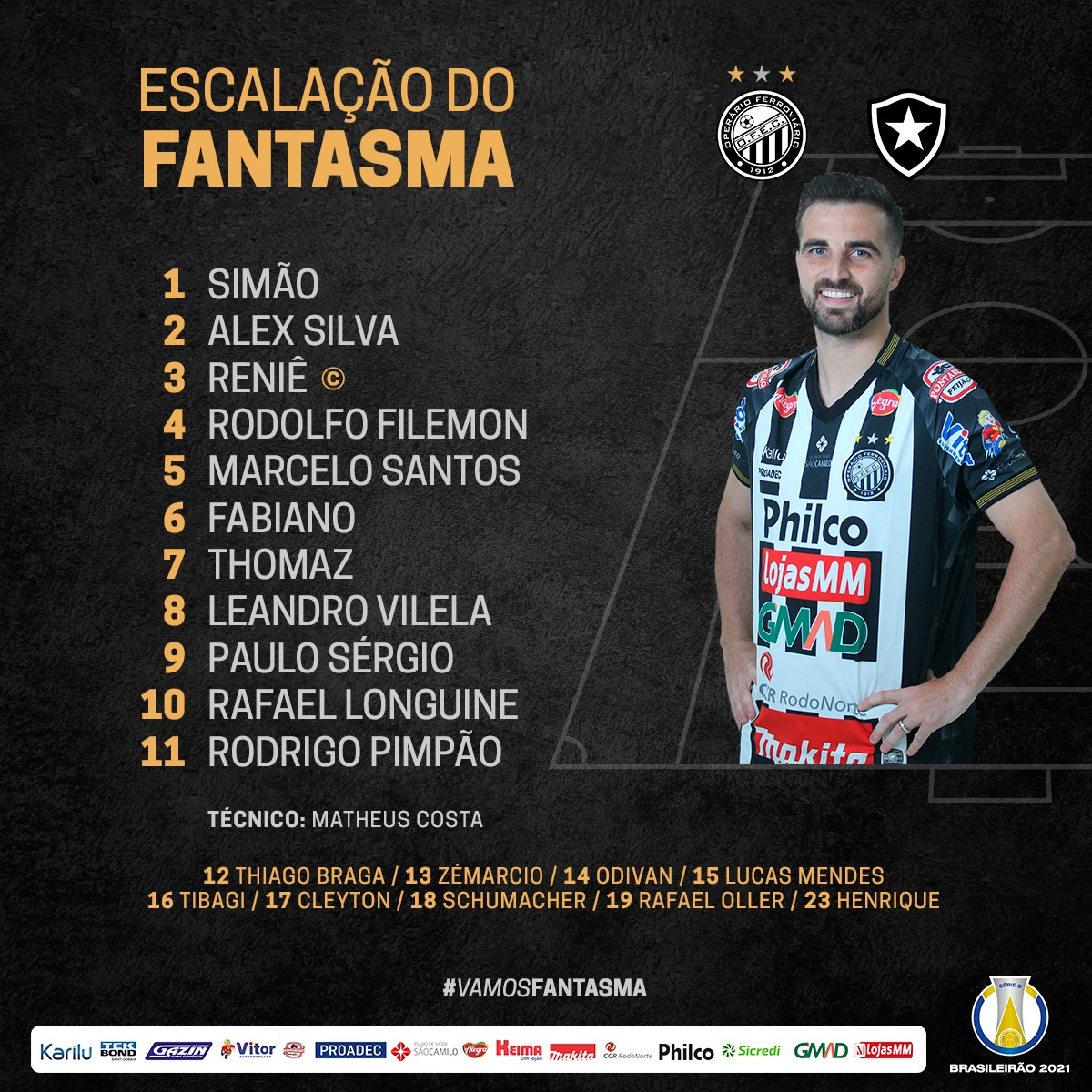 Operário-PR escalado para pegar o Botafogo pela Série B