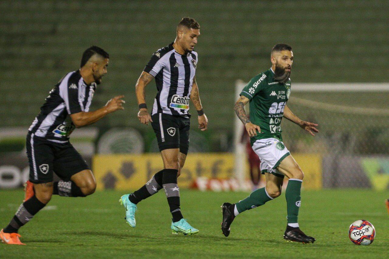 Guarani e Botafogo ficam no 1 a 1 pela Série B