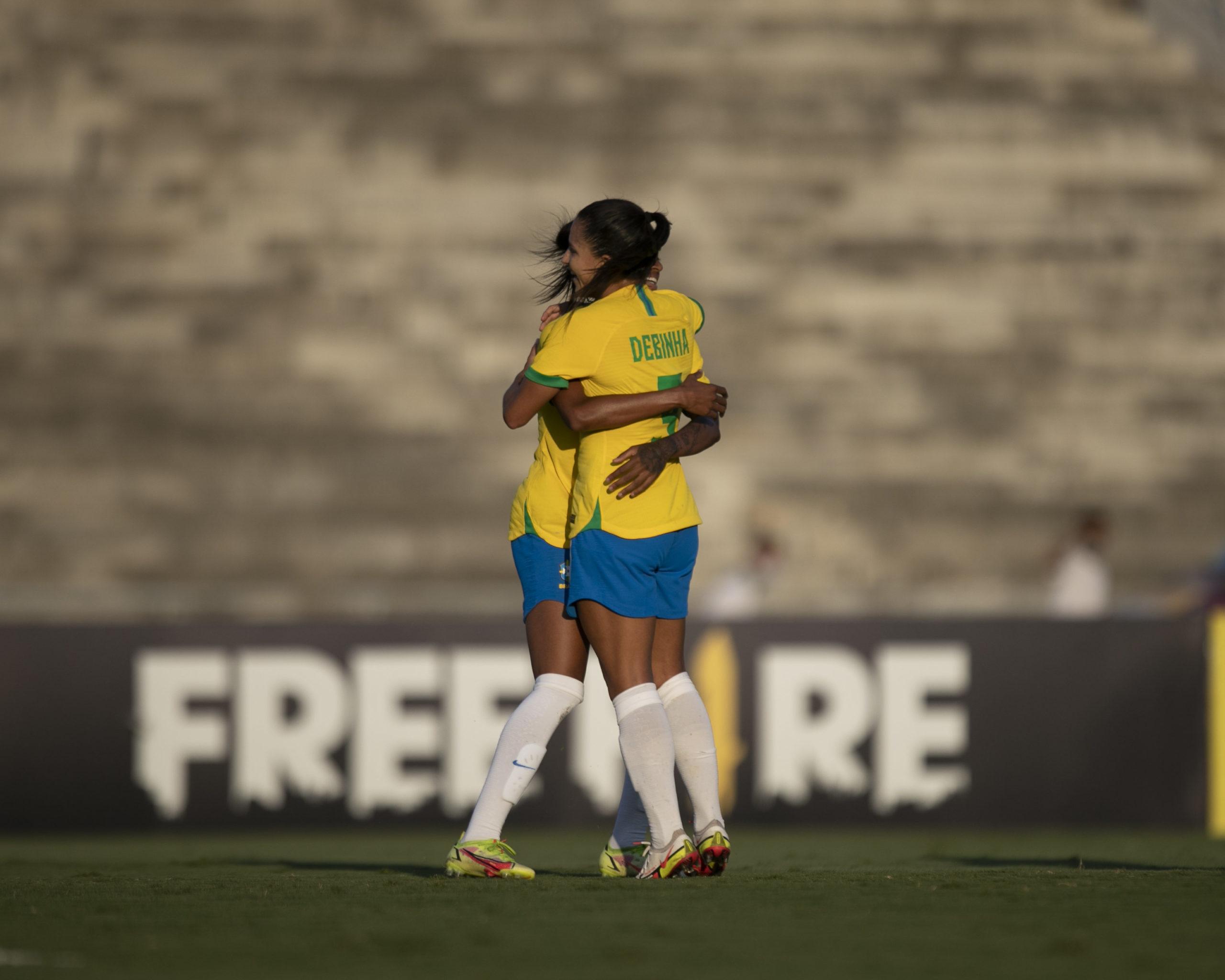 Seleção Brasileira feminina vence a Argentina por 3 a 1, em amistoso na Paraíba
