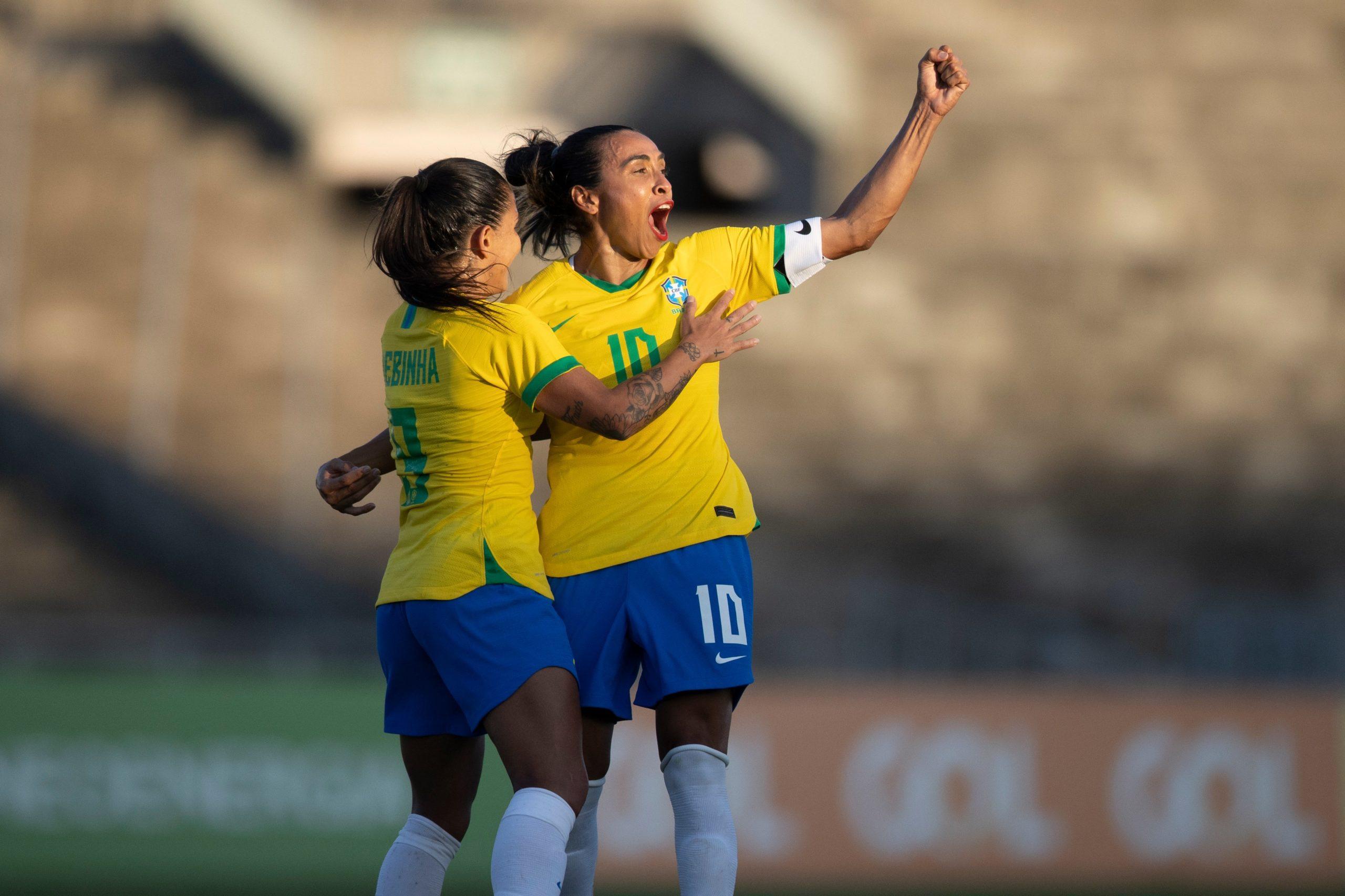 Seleção Brasileira feminina goleia a Argentina por 4 a 1 e conquista segunda vitória seguida em amistoso na Paraíba