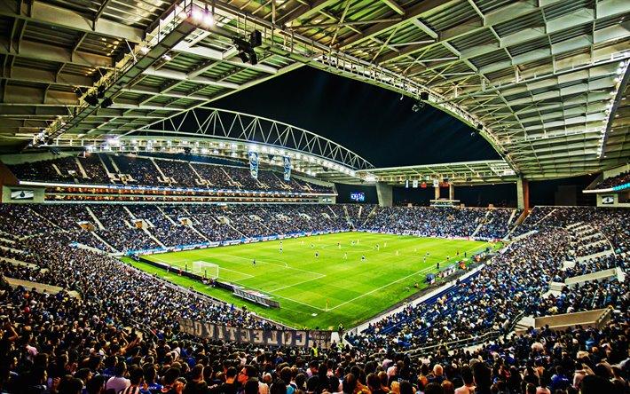 Estádio de futebol com publico
