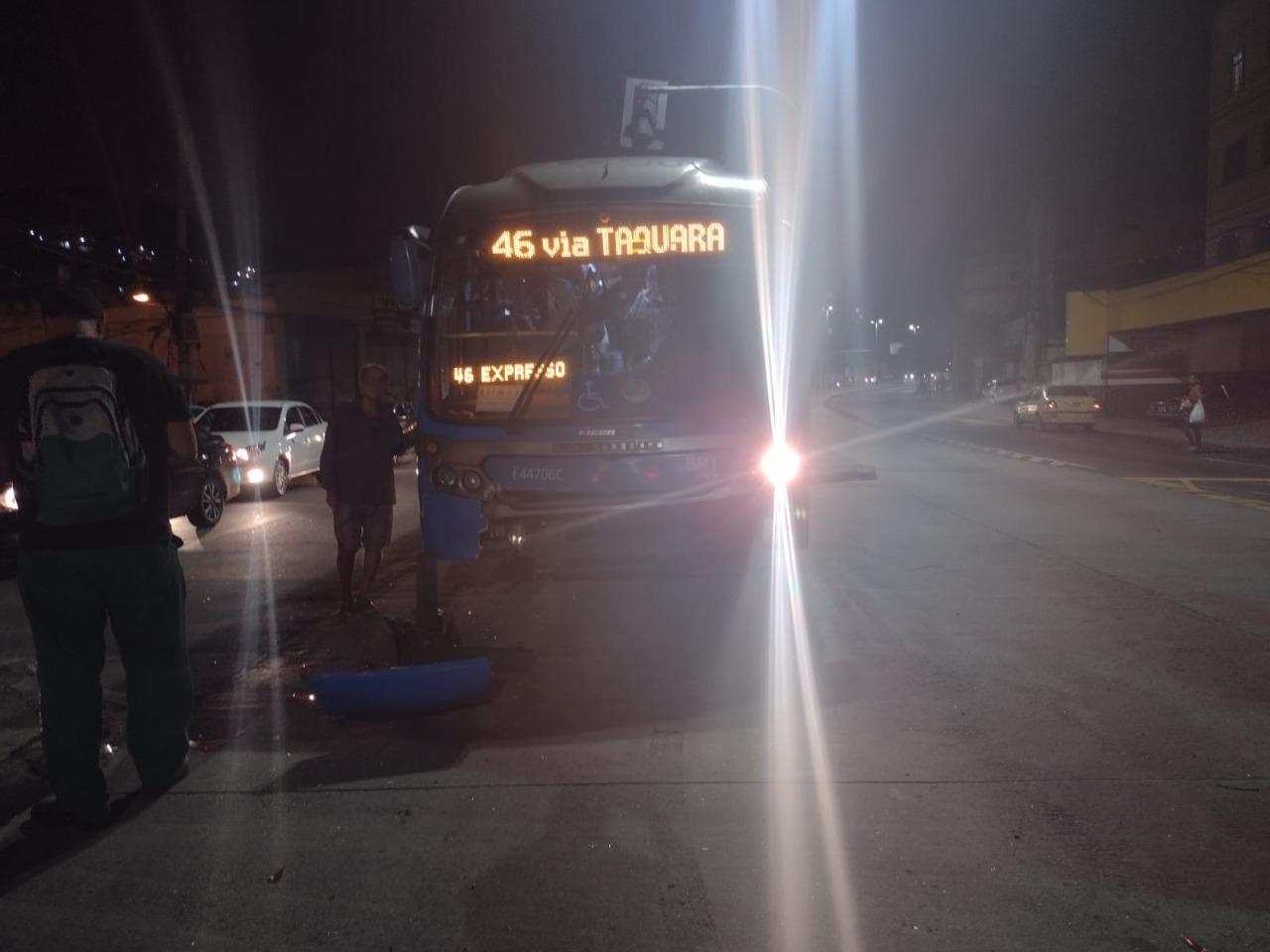 Imagem de um BRT danificado