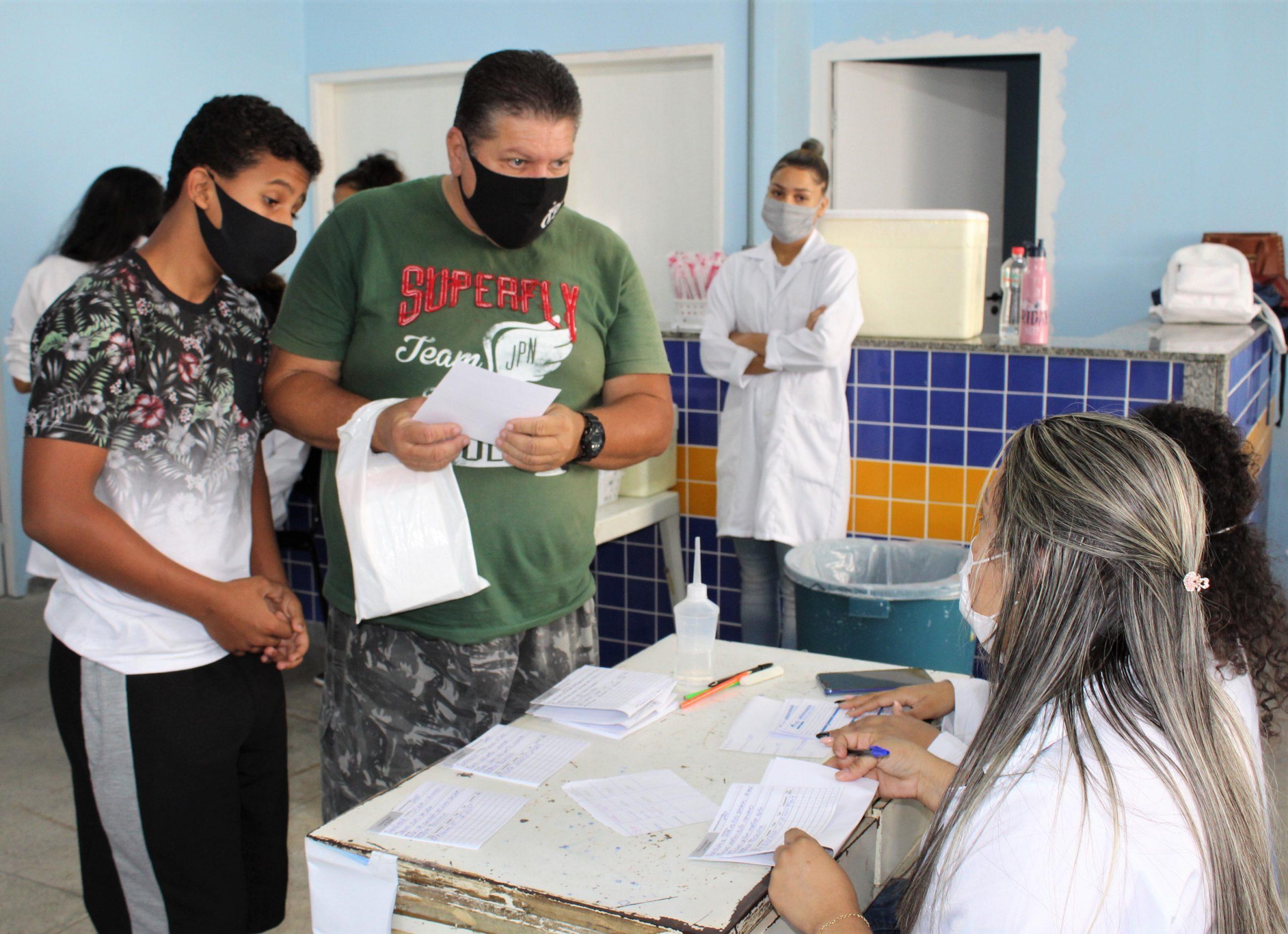 Japeri dá início a imunização de jovens de 12 a 17 anos de idade com comorbidade ou deficiência permanente