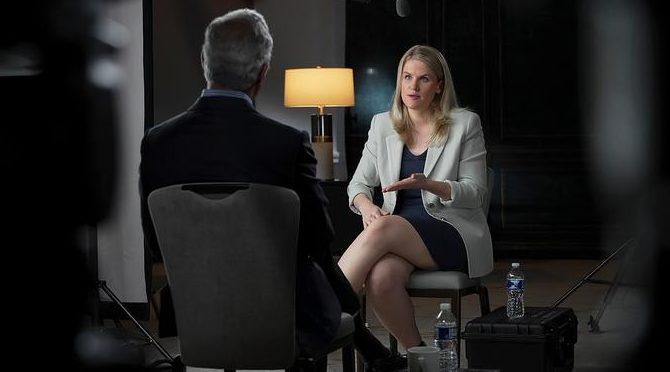 Frances Haugen em entrevista