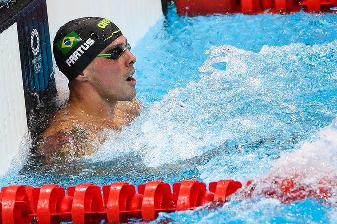 Bruno Fratus ficou com o bronze nos 50m livre