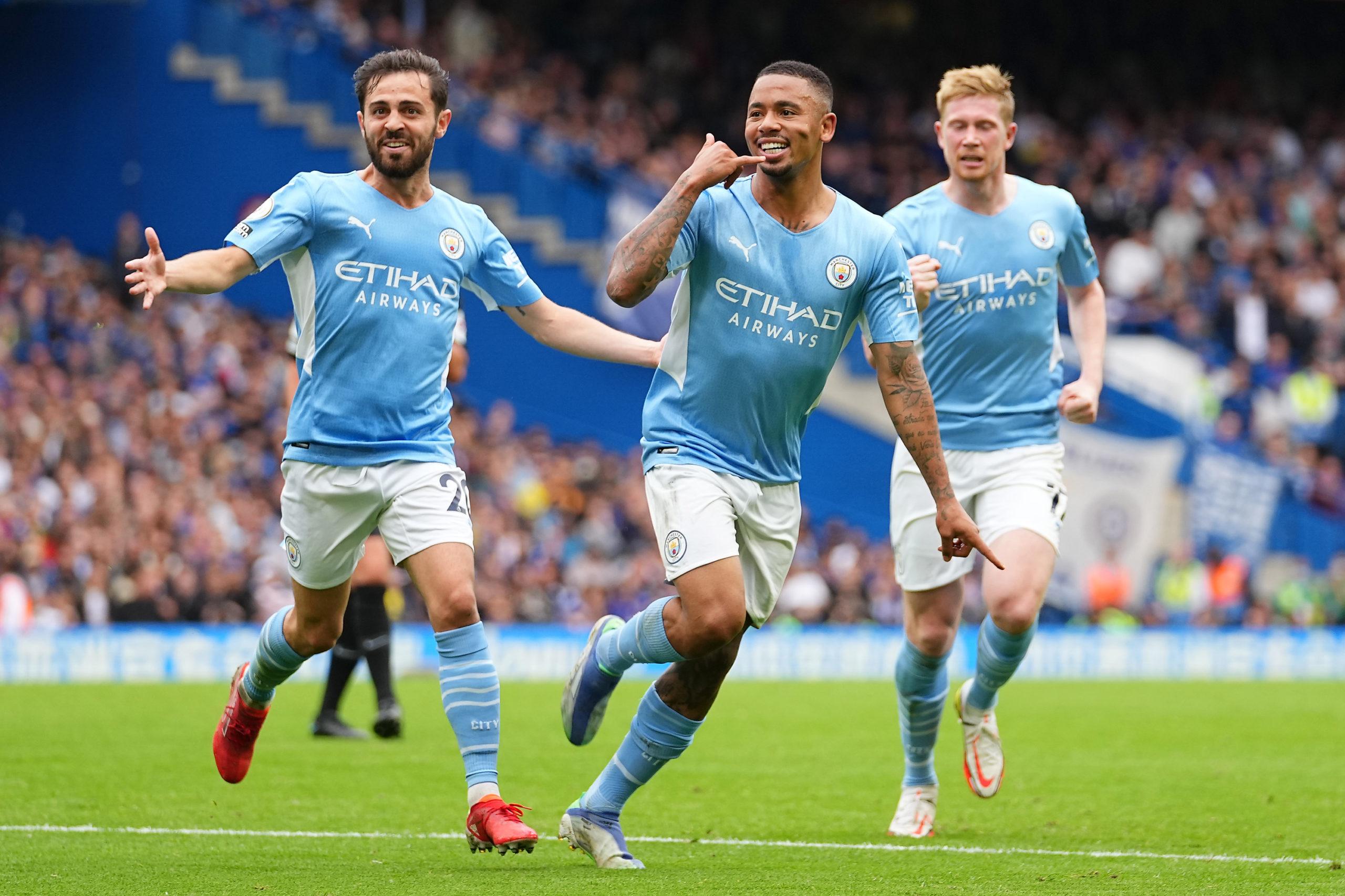 Gabriel Jesus marcou o gol da vitória do Manchester City sobre o Chelsea