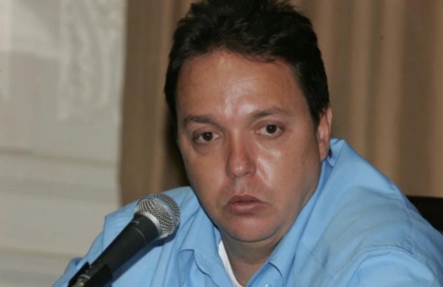 Christiano Girão fazendo discurso em evento no Rio de Janeiro