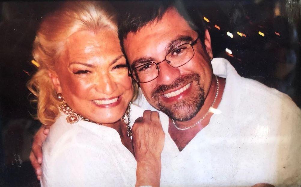 Hebe e o filho Marcello Camargo